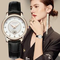 Đồng hồ nữ SANDA 198 dây da mềm số đính đá lấp lánh kèm lịch ngày