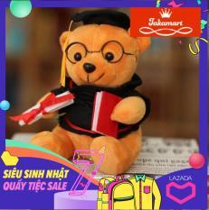 Gấu bông tốt nghiệp gấu cử nhân cao 30 cm siêu mịn