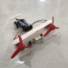Máy Bay Lắp Ghép Chạy Pin Theo Phương Pháp Giáo Dục Steam Stem, đồ chơi thông minh, đồ chơi lắp ghép, đồ chơi sáng tạo, bé nghiên cứu khoa học, mô hình máy bay, đồ chơi bằng gỗ