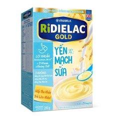 [HSD 2022] BỘT ĂN DẶM RIDIELAC GOLD YẾN MẠCH SỮA – HỘP GIẤY 200G