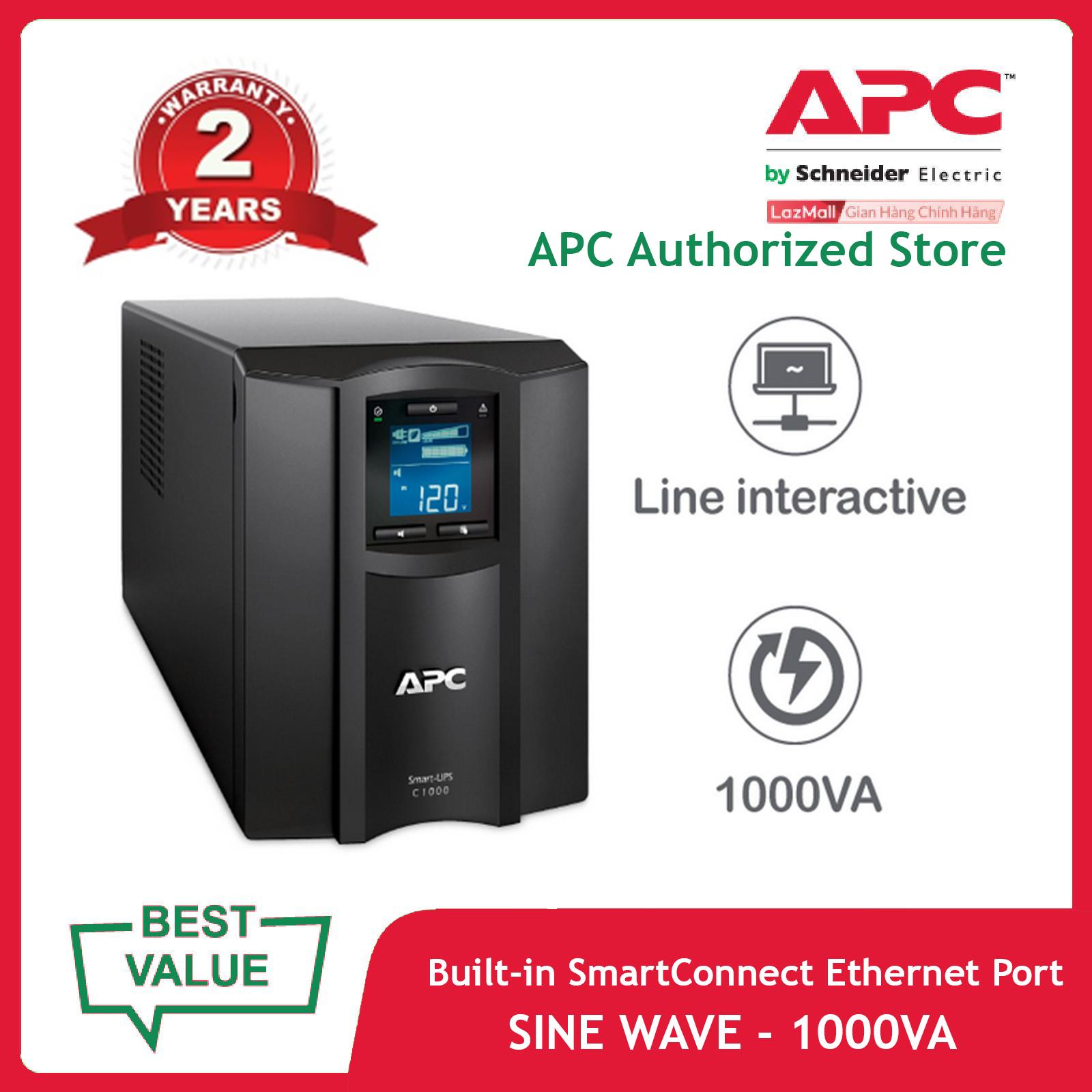 Bộ lưu điện APC: Smart-UPS C 1000VA LCD 230V with SmartConnect – SMC1000IC