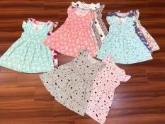 Váy Bé Gái Cotton Tay Bèo Dáng Babydoll 7-28kg In Họa Tiết Nhí Nhiều Màu Dễ Thương Thời Trang Julykids Vay G10013 (Giao Ngẫu Nhiên)