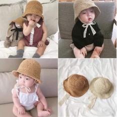 Mũ ajuma dây buộc cho bé / mũ cói cho bé 1-3 tuổi