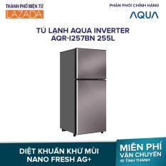 Tủ Lạnh AQUA Inverter AQR-I257BN 252L – 2 Cửa Inverter Tiết kiệm điện- Công nghệ Nano Fresh Ag+ – Hàng phân phối chính hãng