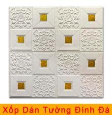 Tấm xốp dán tường đính đá 3D hoa văn đẹp / Chịu lực, chống nước, chống ẩm mốc / 70x70cm