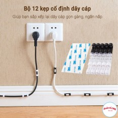 Bộ 20 kẹp cố định dây điện dây cáp sạc dán tường gọn gàng tiện lợi – Buôn rẻ.com 00901