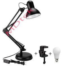 Đèn bàn học tập, làm việc, có chân kẹp bàn Pixar MT-322 + Tặng 1 bóng LED 7W (Tùy chọn)