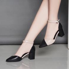 Giày cao gót 7cm pha màu dễ thương