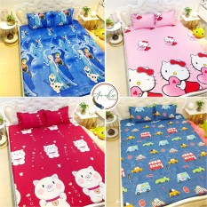 Bộ ga gối 💖m6/m8/2m💖 drap giường poly, ga trải giường cute + 2 vỏ gối nằm cute An Như Bedding