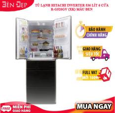 [TRẢ GÓP 0%] [BDAY LZD – SIÊU VOUCHER 1.000K TỪ LZD] Tủ lạnh Hitachi Inverter 536 lít 6 cửa R-G520GV (XK) màu đen