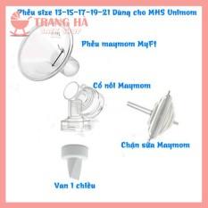 UNIMOMBộ phụ kiện phễu hút sữa size 13 15 17 19 21mm Maymom dùng cho các máy như Unimom, Realbubee, Ameda