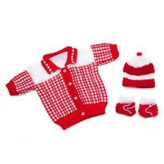 Combo áo len+vớ tay+nón sơ sinh đến 3 tháng