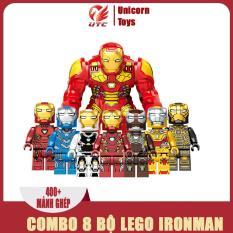 Đồ chơi trẻ em thông minh xếp hình lego Avengers COMBO 8 BỘ IRONMAN, 480+ mảnh ghép,nhựa ABS an toàn cho trẻ