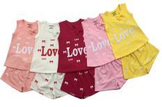 sét 3 Bộ đồ màu dễ thương cho bé gái từ 7kg đến 22kg