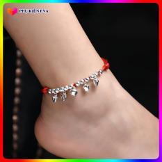 Lắc chân đỏ may mắn KÍCH CỠ CÓ THỂ ĐIỀU CHỈNH kiểu dáng thời trang, hai lớp, mẫu bán chạy, họa tiết ngôi sao, phong cách Hàn Quốc BSTVT – [ToToShop]