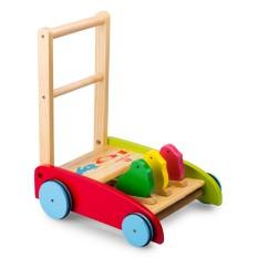xe tập đi bằng gỗ 3 con gà cao cấp cho bé yêu, gỗ tự nhiên, gia công sắc xảo, màu sắc bắt mắt