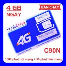 Sim 4G MobiFone C90N miễn phí tháng đầu 120 GB/tháng (4 GB/ngày + 1000 phút nội mạng + 50 phút liên mạng)