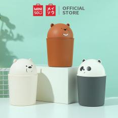 Thùng rác We bare bear Thùng Lưu Trữ Hộp Lưu Trữ Miniso Waste Bin
