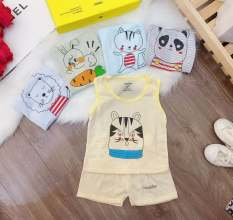 Combo 5 bộ quần áo ba lỗ NouBaby (mẫu kẻ ) mặc màu hè cực mát cho bé sơ sinh từ 0 tháng đến 14 tháng