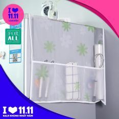 Phủ chống bụi cho tủ lạnh kèm ngăn chứa đồ tiện dụng, chống bụi chống thấm, dễ dàng vệ sinh