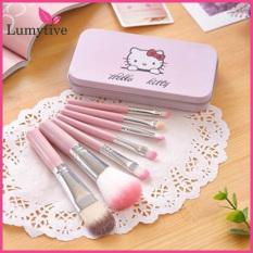 [COMBO] Bộ cọ trang điểm Hello Kitty 7 cây trong hộp xinh xắn, lông cọ mềm với màu hồng cực dễ thương. Hộp cọ thiết kế nhỏ gon dễ dàng bỏ túi mang theo đi học, đi làm, đi chơi, du lịch – Lumytive