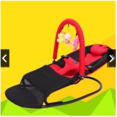 Ghế rung ghế nhún đa năng chân cong cho bé tặng kèm thú treo + gối đầu