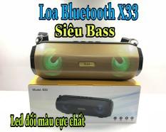 Loa Bluetooth X33 siêu bass nghe cực hay giá rẻ, tặng dây đeo loa thời trang