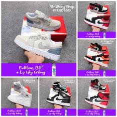 [Fullbox, Bill + Lọ tẩy trắng] Giày thể thao Nike Jordan 1 cao và thấp 36-44