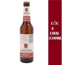 Lốc 4 chai bia Dinkelacker Privat 5.3% (330mlx4)