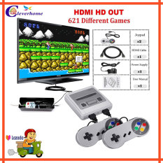 Máychơi game mini điện tử 4 nút cầm tay HDMI tích hợp 621 trò chơi – hỗ trợ 2 người chơi