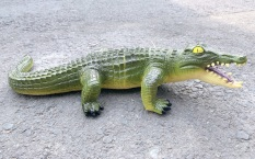 Cá sấu nhựa 58 x 12 cm , có âm thanh khi ấn vào bụng