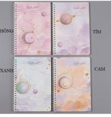 [Tặng kèm 1 bút viết] Sổ tay lò xo kẻ ngang A5 Ngân Hà, 120 trang, kích thước: 21×14.2cm – SakuraShop