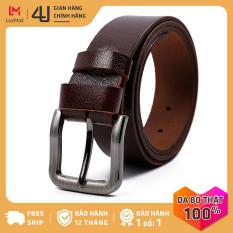 Thắt lưng dây nịt nam da bò 4U đầu khóa kim phong cách lịch lãm sang trọng T195D28
