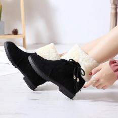 Giày Bốt Nữ Lót Lông Mùa Đông Du Lịch Siêu Ấm – Boot nữ cao cổ độn đế – Boot lông