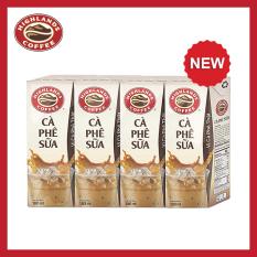 Lốc 4 hộp cà phê sữa Highlands Coffee Tetra pack (180ml/hộp)