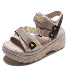 Sandal ulzzang Chữ A đế cao 7 cm 3 quai 2 màu siêu đẹp
