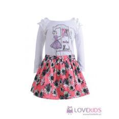 Chân váy bé gái hoa cúc hồng Lovekids