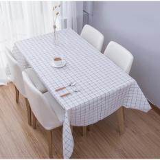 Khăn trải bàn PVC họa tiết ca rô SIZE 90X137 CM