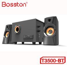 [TẶNG 10 BAO LÌ XÌ] Loa vi tính 2.1 kiêm Bluetooth USB thẻ nhớ Bosston T3500-BT công suất 20W (Đen)