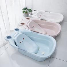 chậu tắm cho bé hình ếch kiểu mới kèm lưới tắm tiện lợi