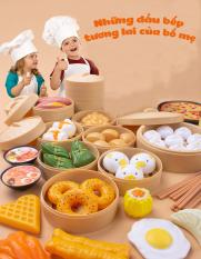 Bộ Đồ Chơi Thức Ăn Cho Bé Bữa Sáng, Mô Hình Kích Thước Chuẩn, Màu Sắc Sặc Sỡ Giúp Bé Yêu Vui Chơi Thỏa Thích – Mẫu Ngẫu Nhiên