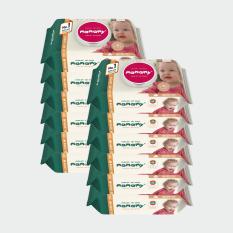 [HCM]( Có mã quét QR) 10 gói Khăn ướt Mamamy 100 tờ( Mẫu mới) có nắp không mùi