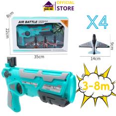Đồ chơi bắn máy bay cho bé, kèm 4 máy bay mô hình, bắn xa 3-8m, Đồ chơi vận động ngoài trời cho bé, bắn máy bay đồ chơi chất lượng cao |TuanSu Shop|