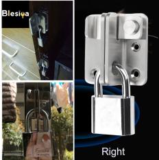 Blesiya khóa chốt an toàn bằng thép không gỉ, thiết kế cho cửa phòng tắm, phòng ngủ (sản phẩm không bao gồm ổ khóa) – INTL