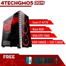 Máy tính cá nhân Pubg PC Gaming chuyên Minecraft, GTA5 giá rẻ chiến mọi Game Online, offline 4TechGM05 2019 edit Video ngang pc workstation, PC Media cao cấp dùng học tập, làm việc, giải trí(all in one) hỗ trợ lắp đặt, cài đặt miễn phí từ xa.