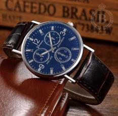 Đồng hồ Nam bản kỷ niệm Geneva [Billux] dây da – 40mm (Đen – Trắng – Nâu) [GNVMT006]