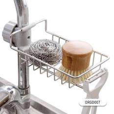 Giá treo bồn rửa bát Inox cao cấp, Kệ inox, Gía inox để giẻ rửa bát xà phòng nhà bếp đa năng – Kích thước 17x10x3 cm