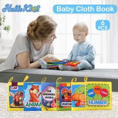 Hello Kimi Combo 6 sách vải cho các bé sơ sinh từ 0m+ – Loại mới học tập vui chơi