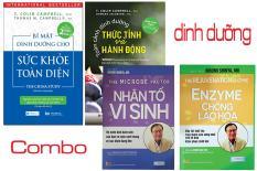 COMBO 4 CUỐN SÁCH DINH DƯỠNG – Bí mật dinh dưỡng cho sức khỏe toàn diện, Toàn cảnh dinh dưỡng thức tỉnh và hành động, Nhân tố vi sinh, Enzyme chống lão hóa