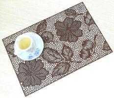 Miếng lót bàn ăn FY 311 hoa văn nâu (45 x 30 cm)